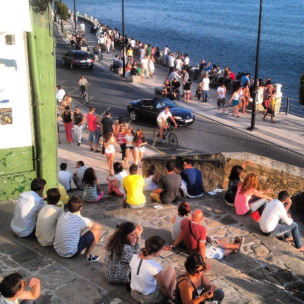 Post-lunch relaxing under the siesta sun